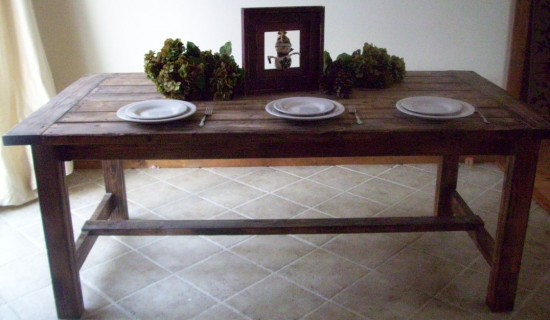 PDF DIY Farmhouse Style Dining Table Plans Download Fine Woodworking Supplies