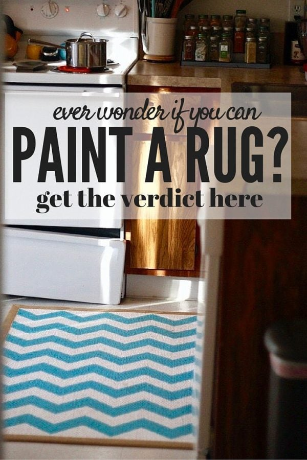 If you've ever wondered if you can paint an old rug that needs a new life, this is the post for you! All the details on how to paint a sisal rug to turn it into something completely different - it's amazing how much of a difference a little paint can make!