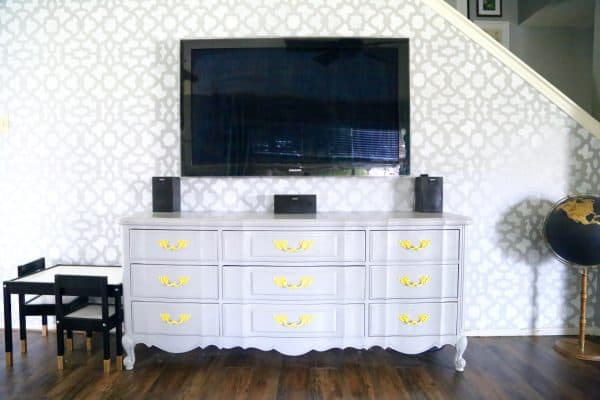 Hate the look of ugly media consoles? Don't we all! Here's a simple and affordable tutorial for turning an old dresser into a gorgeous entertainment center! It's so much simpler than I expected!