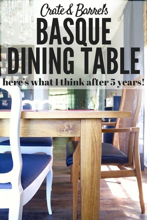 A Review Of The Basque Dining Table From Crate U0026 Barrel   This Post Even Has