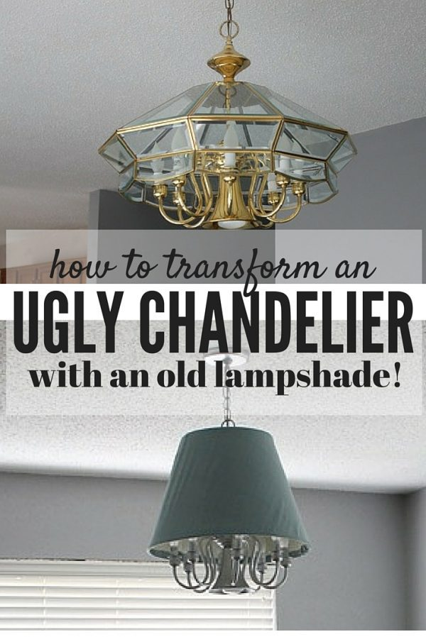 Do you have an ugly old chandelier in your house that you can't afford to replace yet? Here's an idea for getting creative and updating it (for free!) with stuff you probably have lying around the house!