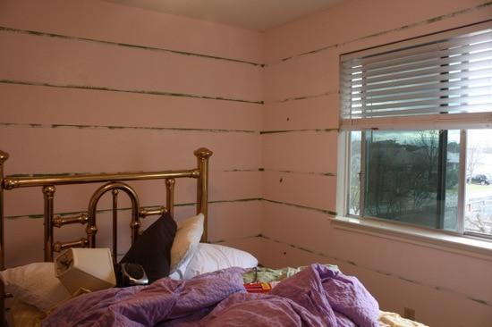 how to paint tone on tone striped walls