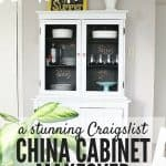 A $40 China Cabinet Makeover