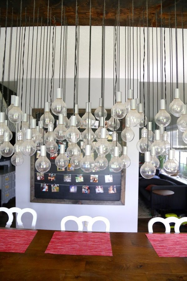 Need some inspiration for your dining room? This light is the perfect DIY project to take your dining room to the next level. It's affordable (under $300) , simple (I swear!) and gorgeous. You can't miss this project!