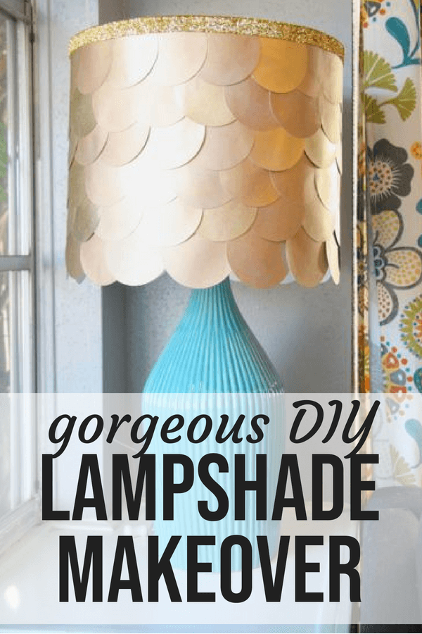 DIY Lampshade Makeover How To Cover A