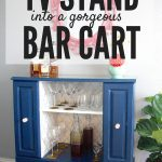 DIY Bar Cart From a $30 Television Stand