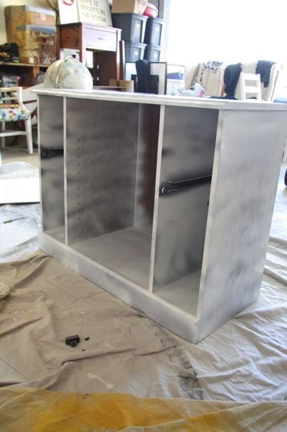 turn television stand into bar cart