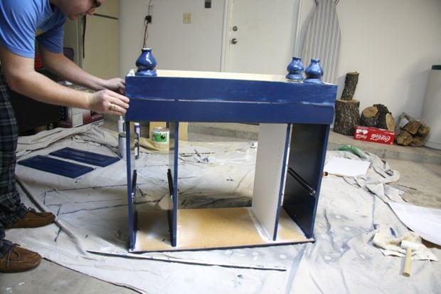 easy DIY bar cart