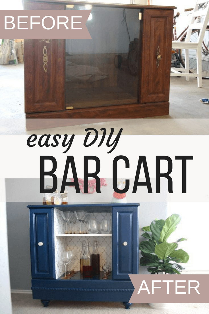 how to make an easy DIY bar cart