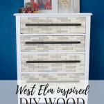DIY West Elm-Inspired Wood Tiled Dresser