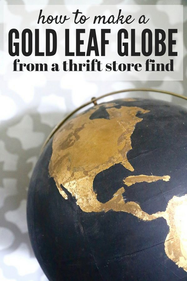 How to make gold leaf world map orimono how to take an ugly thrift store globe and turn it into something amazing this gumiabroncs Gallery