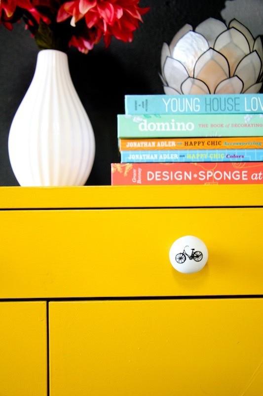 IKEA yellow sideboard