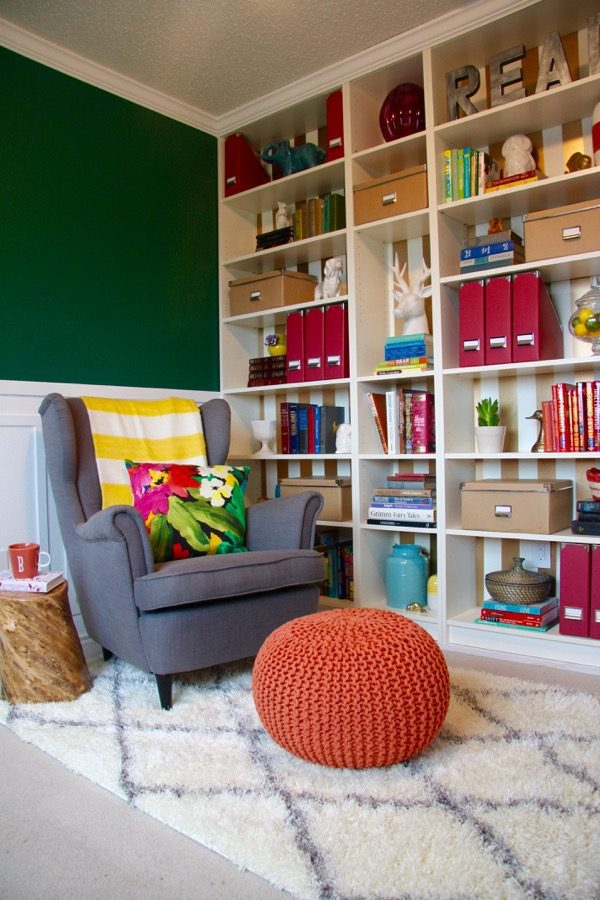 This reading room is so gorgeous! I would have never guessed those bookcases are from IKEA, and the colors are incredible. This is a post you don't want to miss!
