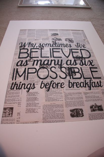 how to make DIY book quote art