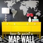 DIY Map Wall Using a Projector