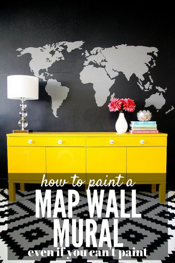 It's so easy to create a beautiful, show-stopping mural in your house - all you need is a projector and a little patience! This post will show you exactly how it's done.