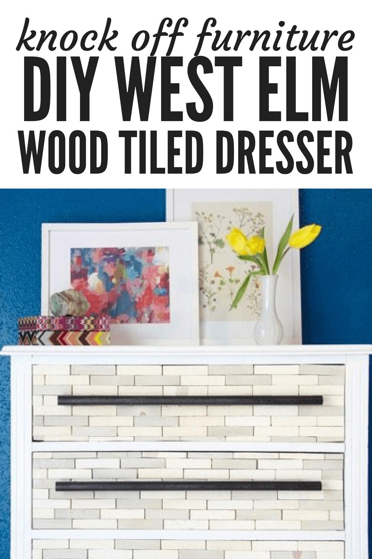 diy furniture project - west elm knock off