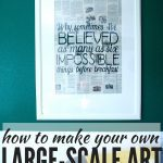 DIY Art From A Favorite Book