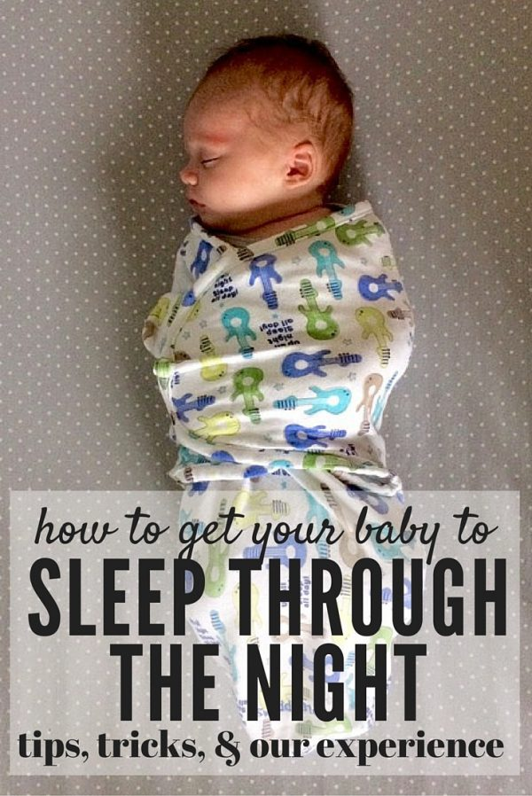 Dying for some sleep? Here are some tips and tricks along with a detailed look at one family's experience with getting their infant to sleep through the night at 5 weeks old!
