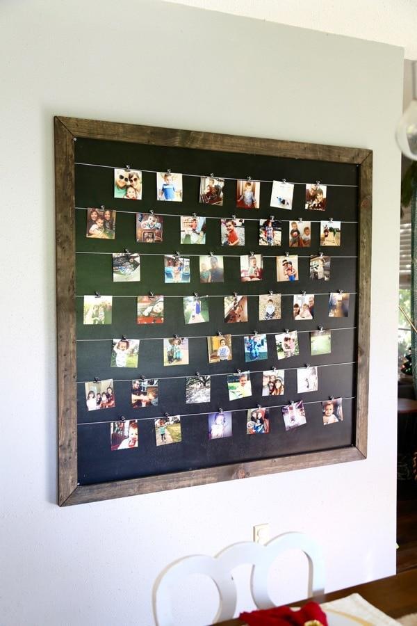 how to make a DIY photo display wall