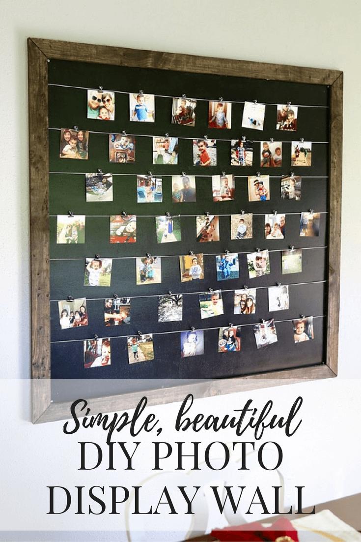 DIY Instagram Photo Display | Love & Renovations