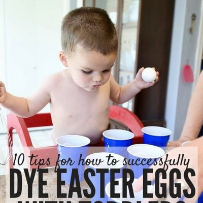 DYE EASTER EGGS WITH TODDLERS