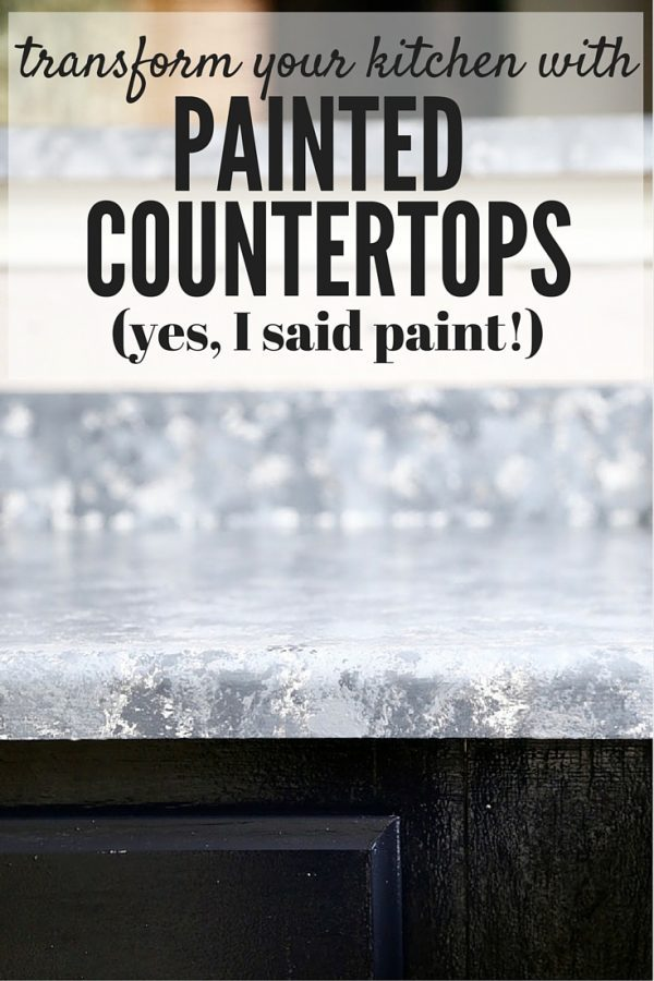 This post will walk you through exactly how to completely change the look of your kitchen with painted faux-granite countertops. It's so affordable and so much simpler than it looks!