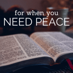 For when you need peace