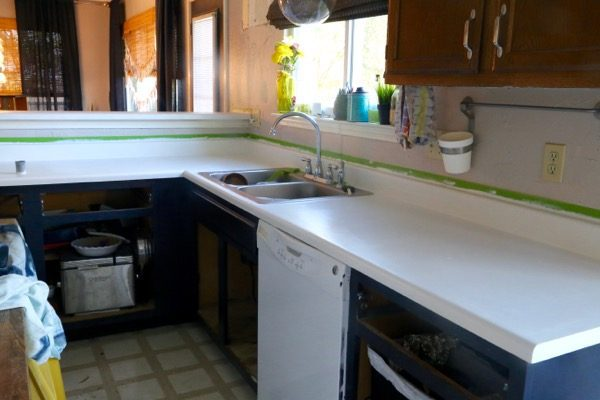 DIY Faux Granite Countertops
