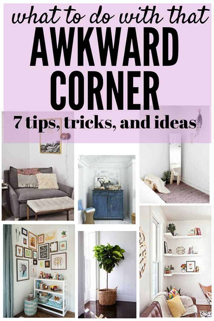 Decorate A Small Square Living Room: How To Decorate An Awkward Corner // Love & Renovations