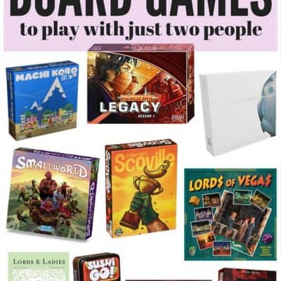 A list of ten unique, engaging, and incredibly fun games that can be played with just two people! Perfect for stay-at-home date nights!