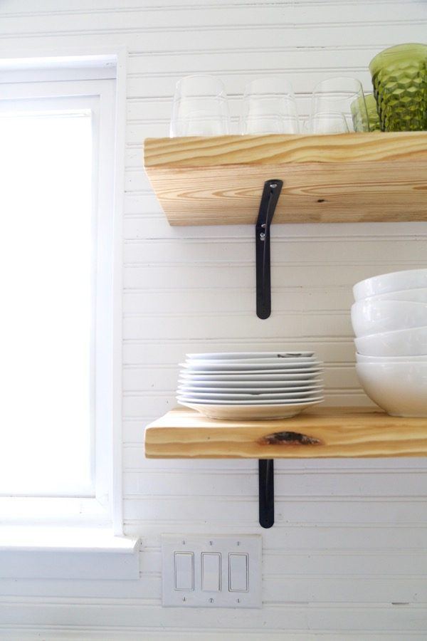 Beautiful DIY open shelving