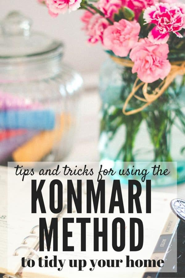 Want to get your home organized but don't know where to start? This post has great tips and tricks for using the KonMari method of organizing to get your home clean and organized - and how to keep it that way! Plus, there's a free download for a checklist to make sure you don't miss a thing!