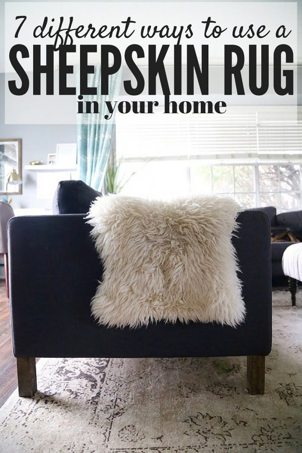 Sheepskin rugs are all over the place - they are such a gorgeous, cozy, and popular item to use in your home, but sometimes we get stuck in a rut with how to use them. Here are seven different ideas for how you can use a sheepskin rug in your house.