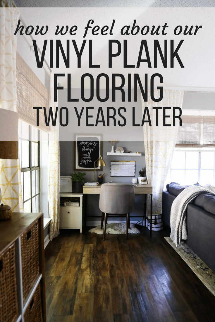 vinyl plank flooring review 2 years later love renovations. Black Bedroom Furniture Sets. Home Design Ideas