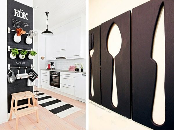 Ideas for kitchen wall art - DIY projects