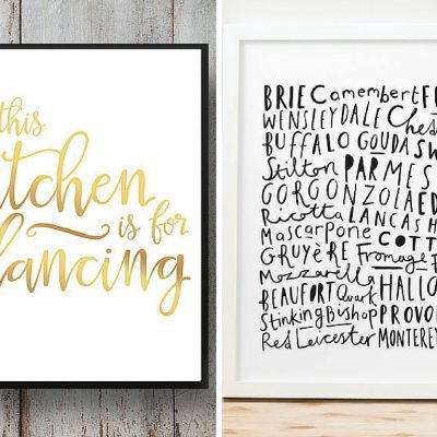 25 gorgeous, affordable, and simple ideas for art for your kitchen. This post includes prints for purchase, free printables, and DIY ideas - you don't want to miss out!