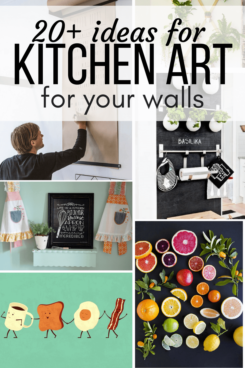 Exceptionnel Collage Of Kitchen Art Ideas