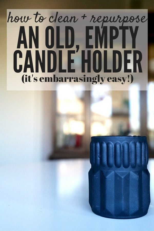 Have you ever wondered how you can repurpose your old candle jars and turn them into something new? This post will walk you through exactly how to do it, even with an unusually-shaped candle holder, and turn your empty candles into something gorgeous. It's much easier that you might think!