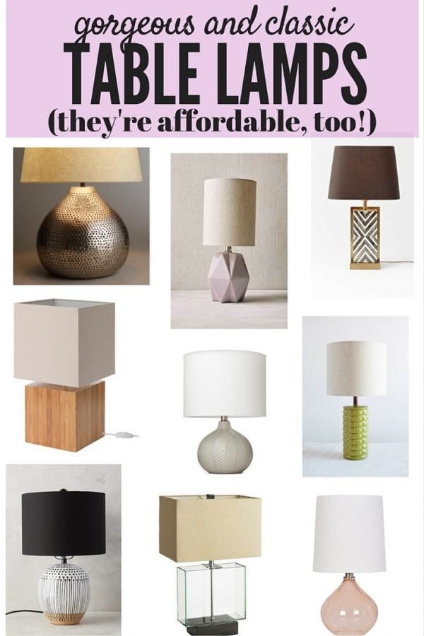 Do you ever feel like it's impossible to find good lamps that are affordable, beautiful, and that you won't get tired of after a few months? Here are 9 classic options that you'll love!