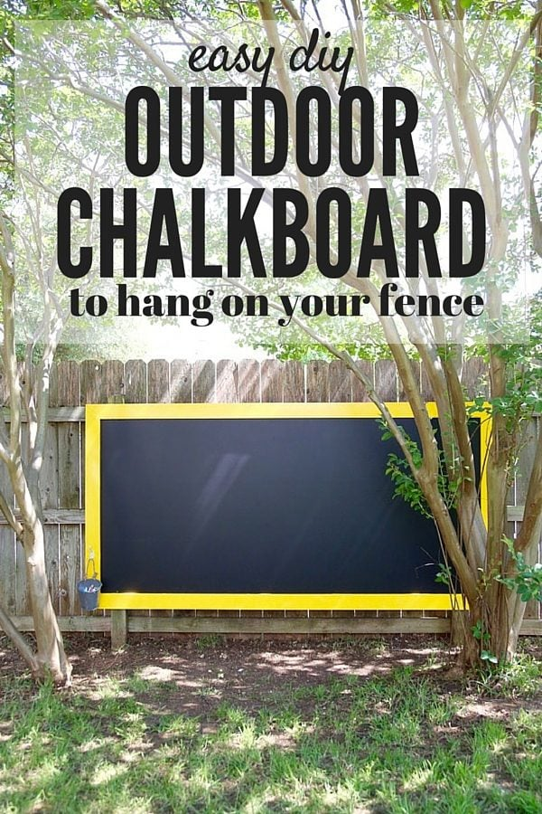 DIY Fence Chalkboard. A Super Quick And Simple Project That Will Create  Hours And Hours