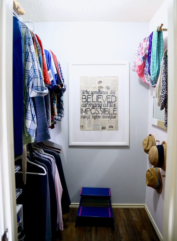 A quick and beautiful closet makeover