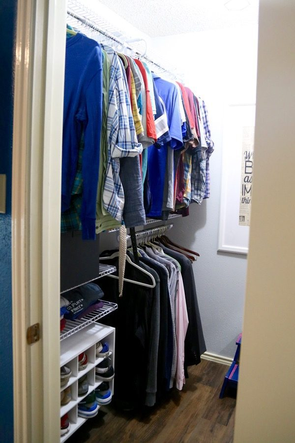 Weekend closet makeover