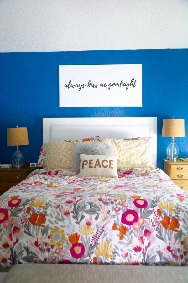 How to use a projector to create gorgeous art to hang above your bed. This method is so incredibly simple, and it can be applied to just about anything!