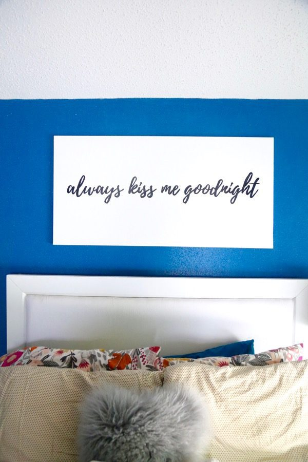 canvas art for bedroom DIY project