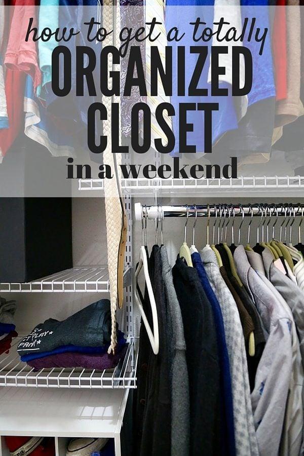 Organizing master closet