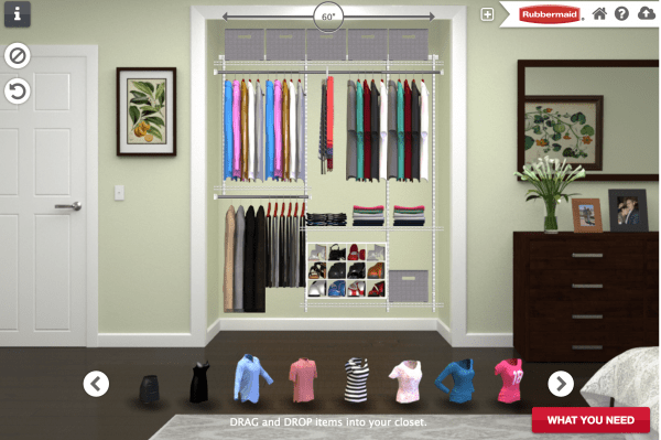 Designing a master bedroom closet with Rubbermaid
