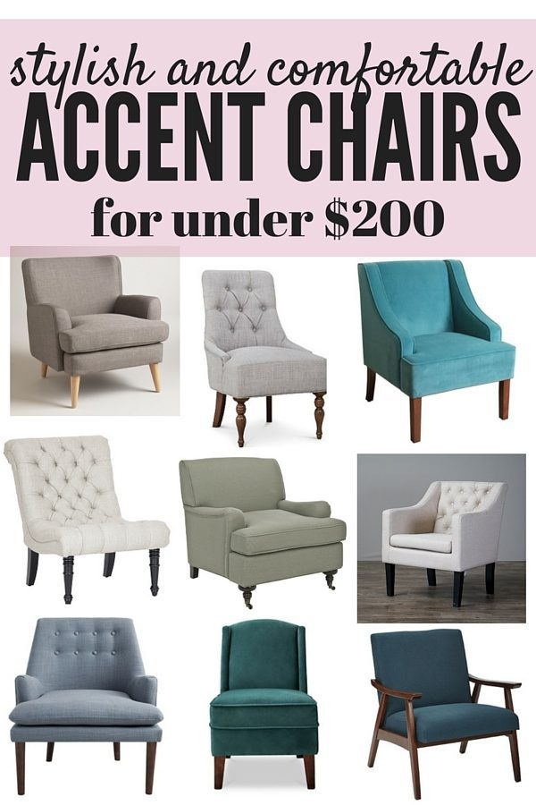 A roundup of the most stylish and affordable accent chairs out there - all are under $200 and they're all gorgeous to boot!