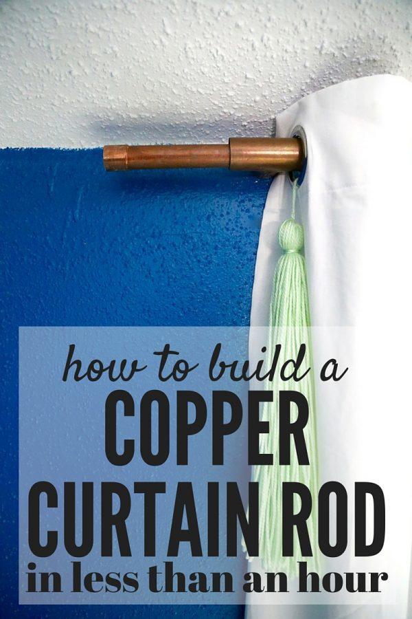 diy copper curtain rod