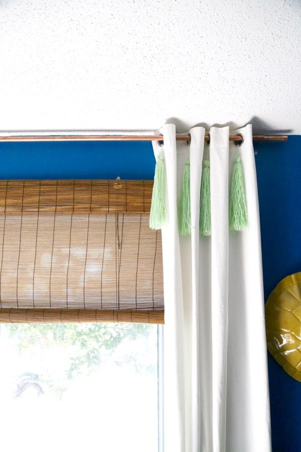 how to make a simple copper curtain rod